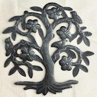 Дерево жизни с цветами и птицами