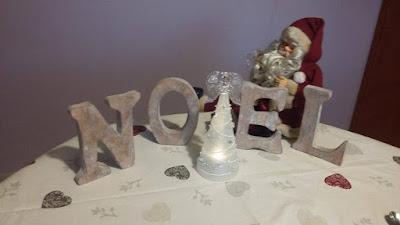 idee deco table noel blanc
