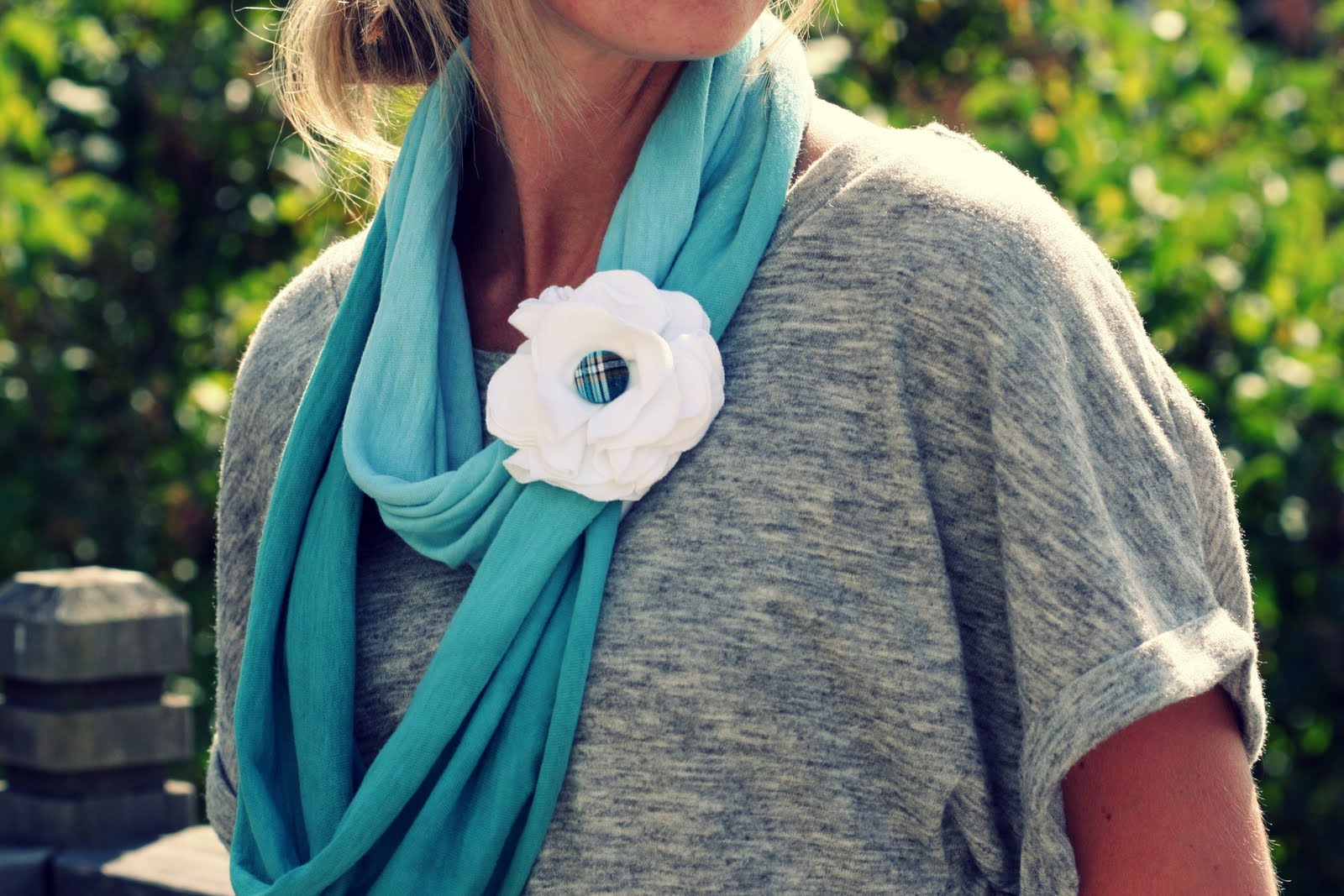 Diy Tshirt Scarf A Bit Of Sunshine How To Make A T Shirt Flower
