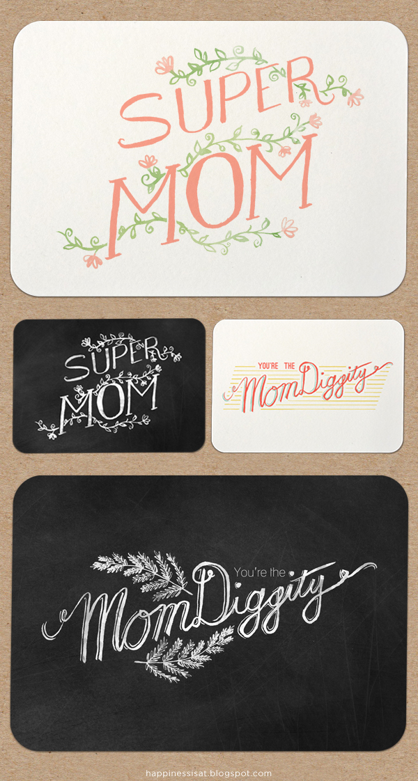 Happiness is... freelance illustration, graphic design & stationery! - Mother's Day cards