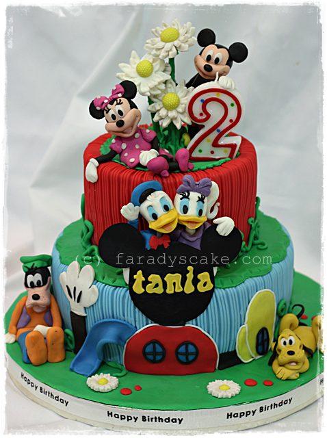 Mickey Pluto Birthday Cake