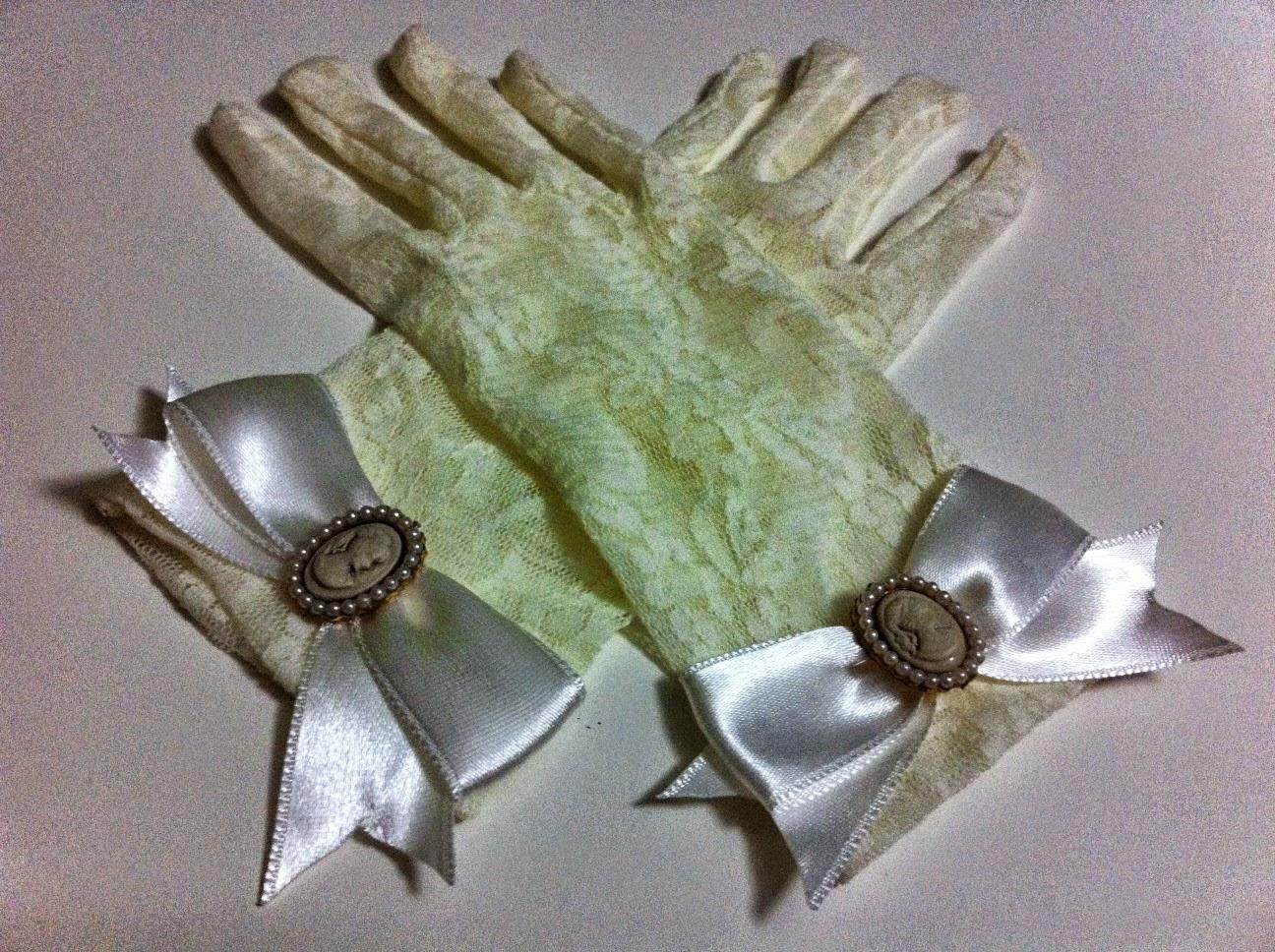 ekru dantel eldiven satın al nikah eldiveni