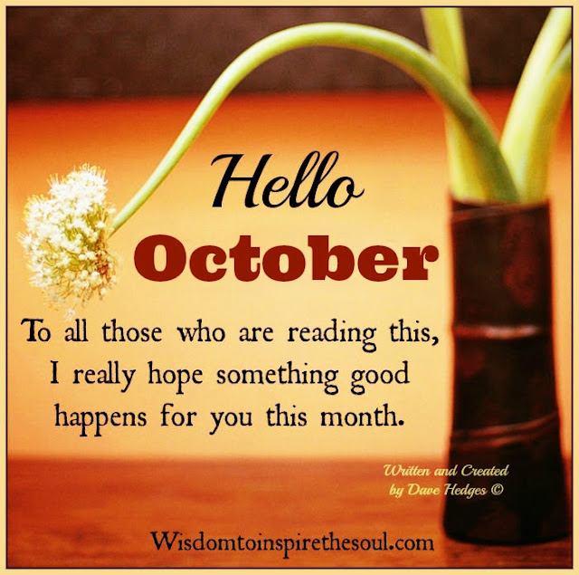Daveswordsofwisdom.com: Hello October 2016