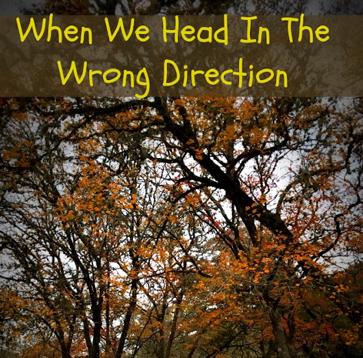 When We Head In the Wrong Direction