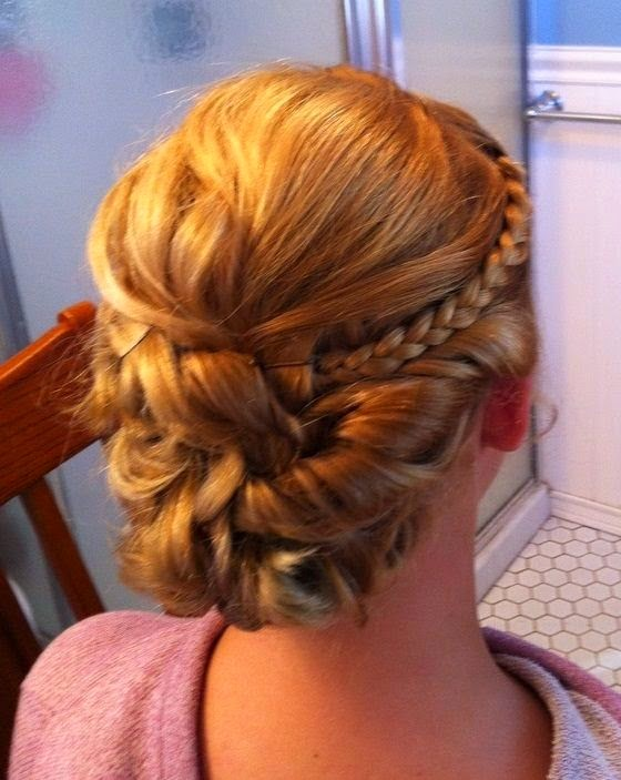 Medium Brunette Homecoming Hairstyle Homecoming Hairstyles 2015}