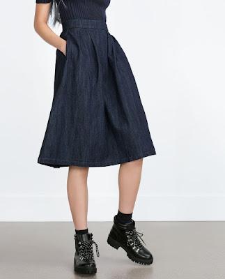 Jupe en jean Zara