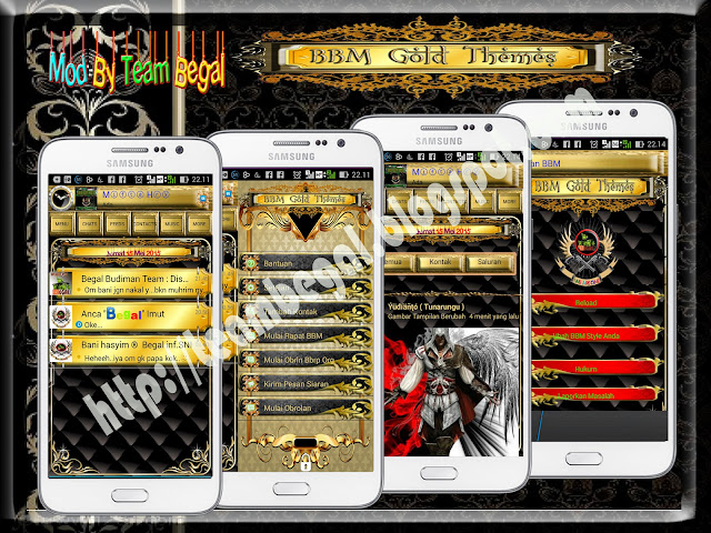 BBM Begal Gold Themes Versi 2.8.0.21 APK