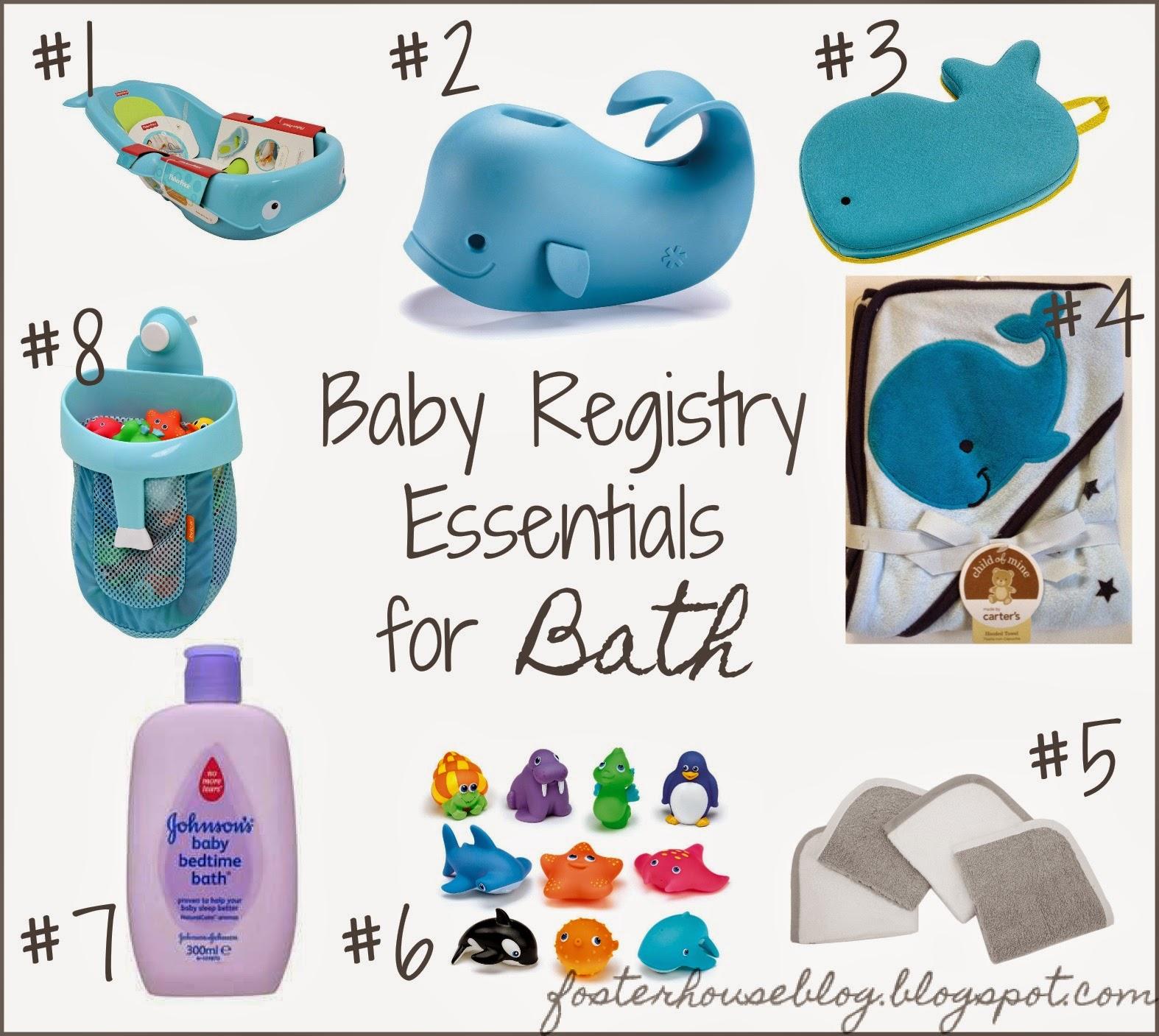Baby Registry Essentials: Bath | Foster House