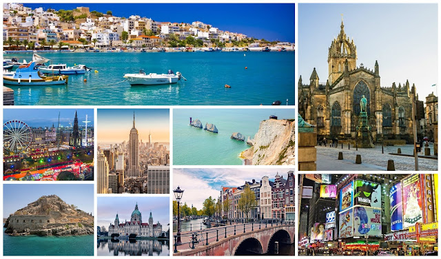 5 Year Travel Bucket List Including New York, Greece, Edinburgh, Isle Of Wight, Amsterdam