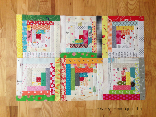 crazy mom quilts: the start of a traditional log cabin quilt : traditional log cabin quilt pattern - Adamdwight.com