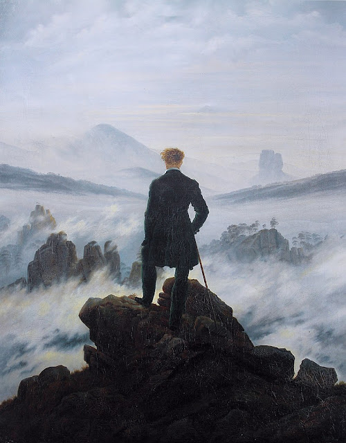 Caspar David Friedrich, Wanderer above the Sea of Fog, 1818_psartworks.in