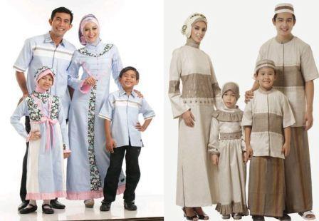 Contoh Gambar Baju Muslim Keluarga Model Terbaru