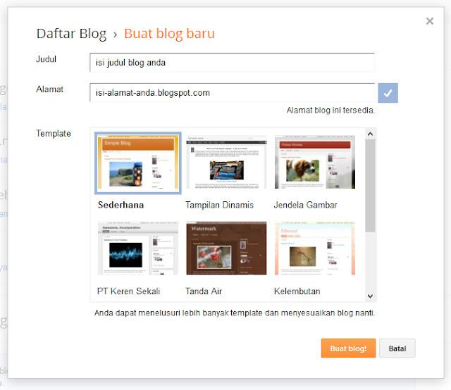 Cara Membuat Blog Pribadi di Blogspot Terbaru 2018
