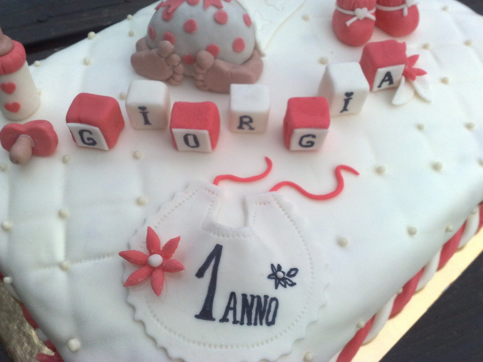 Molto La Rosa Bulgara: Torta battesimo o 1 compleanno bimba BT75