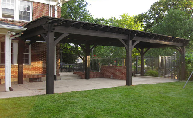 Garden Pergola in UAE-AL FARAH CARPENTRY-Garden Wooden Pergola in UAE