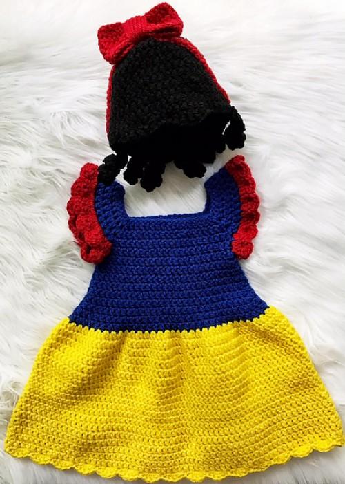 Snow White Dress - Free Crochet Pattern