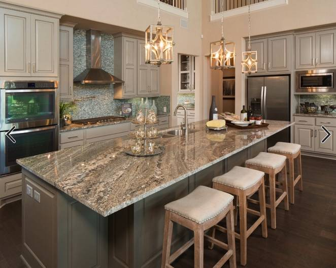 Super white granite is still the most popular kitchen for Granite countertop design ideas