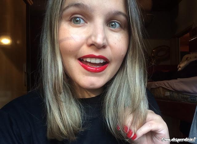 batom líquido lip shine anaconda vermelho passion