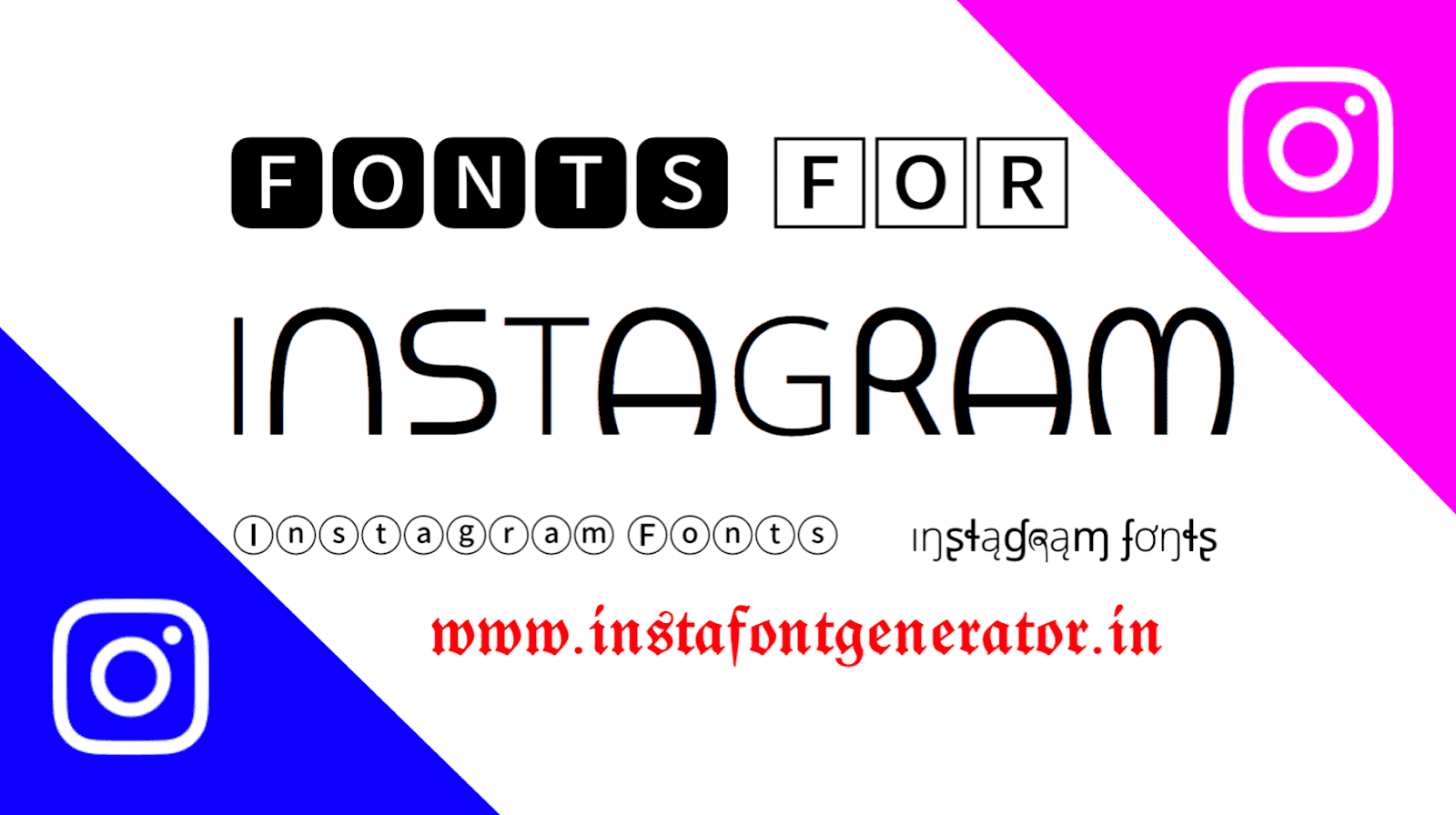 Instagram Gonts Generator