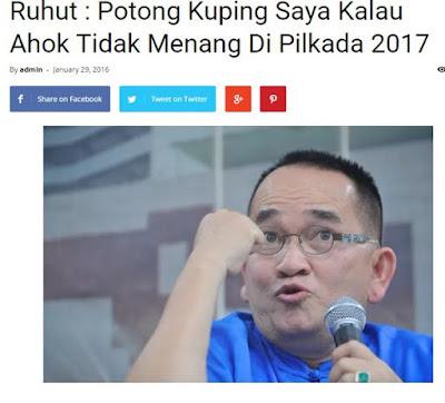 Ribuan Netizen Tagih Janji Ruhut Soal Potong Kuping