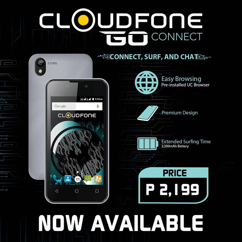Cloudfone Go Connect Launched, Priced At PHP 2199