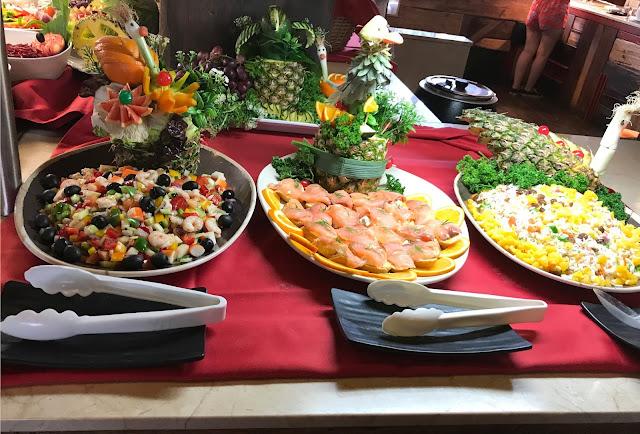 buffet food at pirates village majorca
