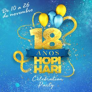 Hopi Hari 18 anos