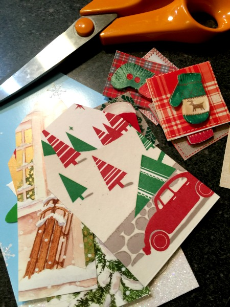 Recycled Christmas Cards www.homeroad.net