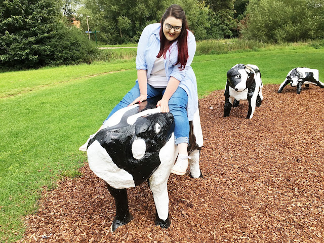 Riding a Concrete Cow in Milton Keynes