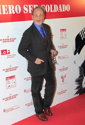 Robert Englund en la presentación de 'De mayor quiero ser soldado', en Madrid (Noviembre de 2011)