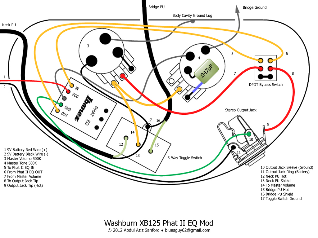 Eq Wiring Diagram Archive Of Automotive Clarion Speaker Free Picture Schematic Ca Gear Blog Washburn Xb125 Rh Cikguazizgearblog Blogspot Com 3 Band