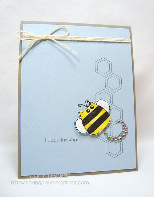 Happy Bee-Day-designed by Lori Tecler-Inking Aloud-stamps from Clear and Simple Stamps