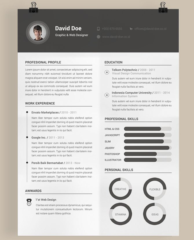 free resume templates can help you in designing the best profile - Creative Resume Template Download Free