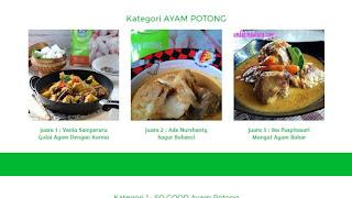 Pemenang Lomba Kreasi Masak So Good, Kreatif Mengolah Masakan Sehat, Enak Dan Berprotein Tinggi