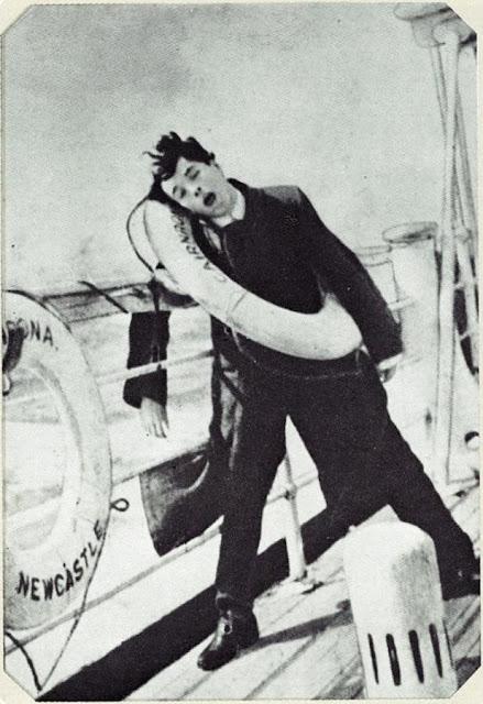Чарли Чаплин на пути в Америку, 1910 год