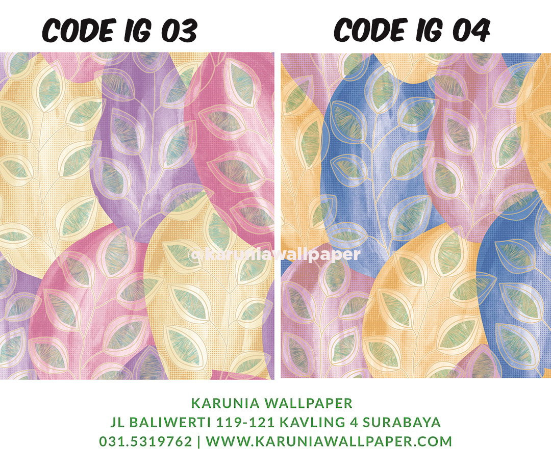 jual dinding wallpaper warna warni