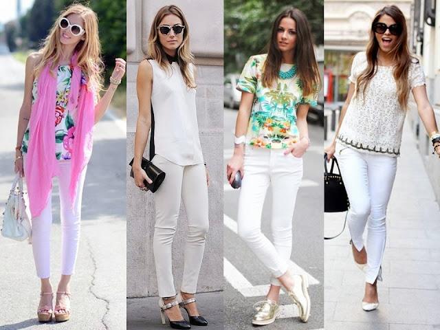 Resultado de imagem para jeans branco