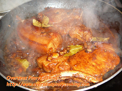 Adobong Pork Chop - Cooking Procedure