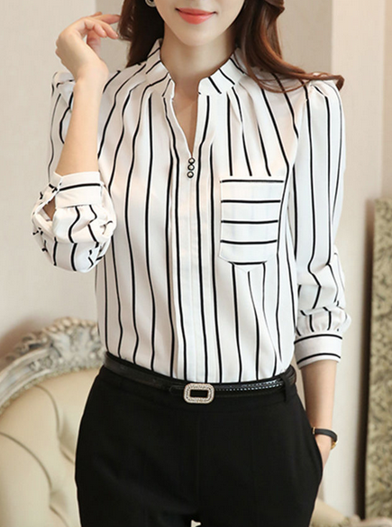 http://www.fashionmia.com/Products/split-neck-patch-pocket-striped-blouse-189367.html