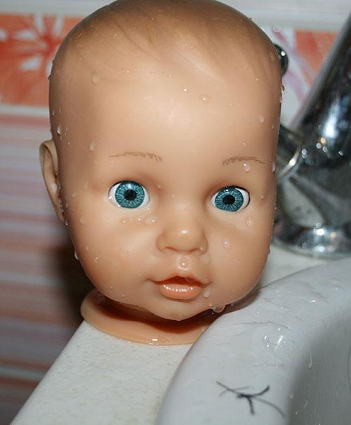 преображение куклы, реснички для куклы своими руками