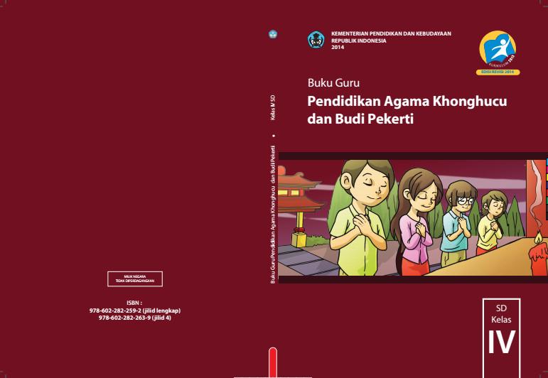 Download Gratis Buku Guru Pendidikan Agama Khonghucu dan Budi Pekerti Kelas 4 SD Kurikulum 2013 Format PDF