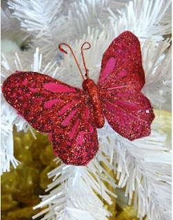 cómo adornar el arbol de navidad con mariposas de fomi