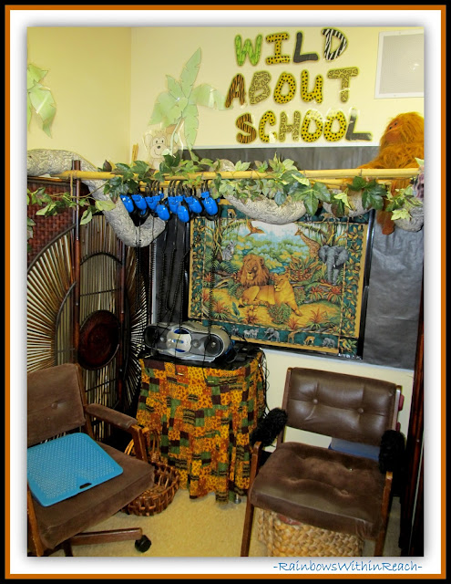 "Classroom with ""WILD"" Theme (Classroom Decor RoundUP at RainbowsWithinReach)"