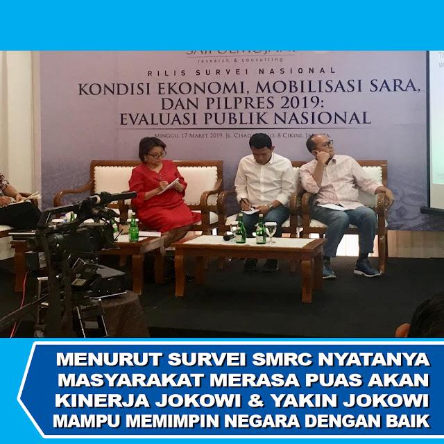 SMRC: Masyarakat Merasa Puas & Yakin Jokowi Mampu Memimpin Negara Dengan Baik
