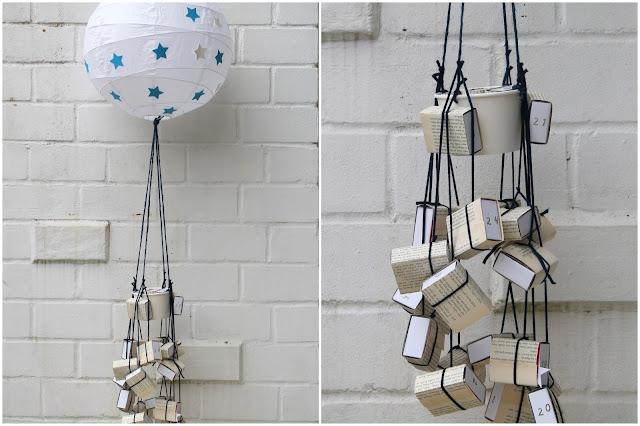 IKEA Hack DIY Heissluftballon Adventskalender Jules kleines Freudenhaus
