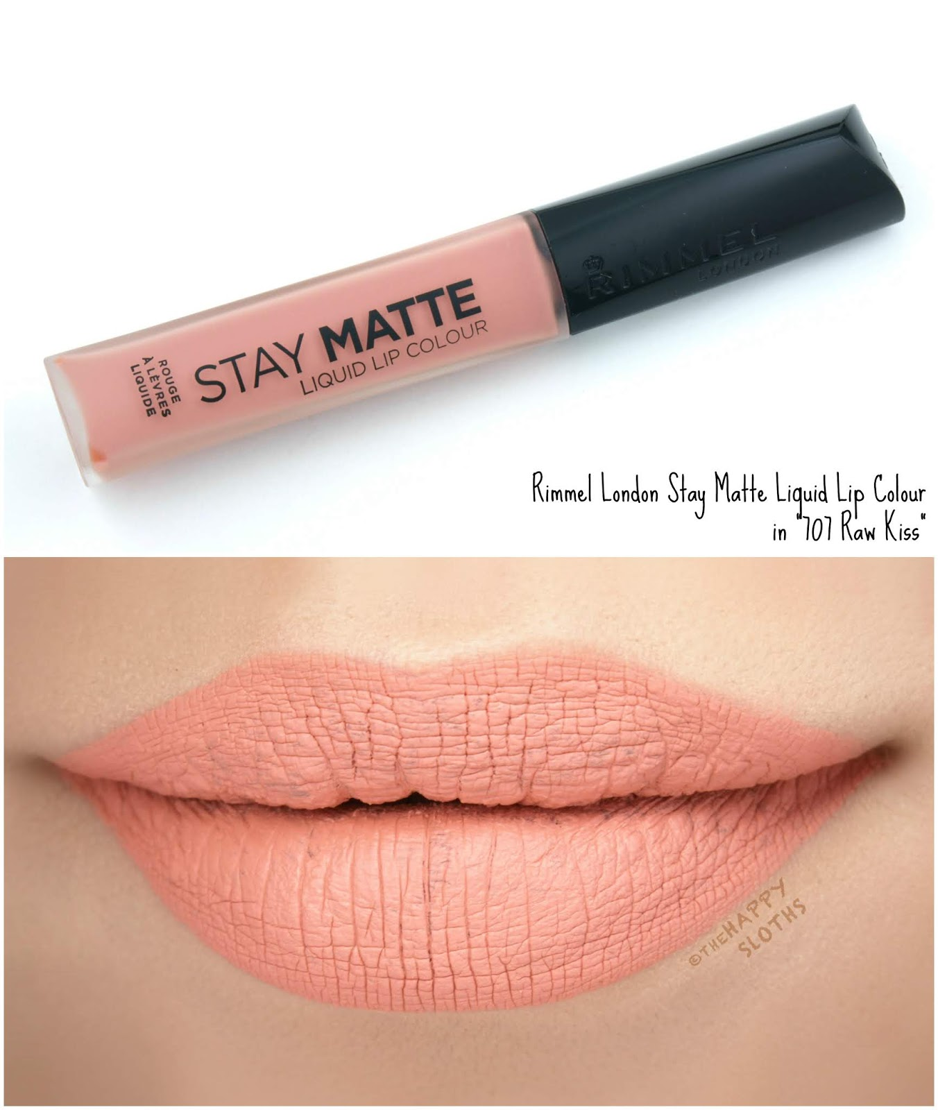"Rimmel London | Stay Matte Liquid Lip Colour in ""707 Raw Kiss"": Review and Swatches"