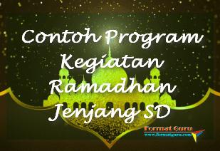 Contoh Program Kegiatan Ramadhan Jenjang SD