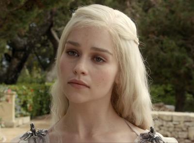 Platin sarısı saçları ve soft makyajı bu karakterin en önemli ayrıntısı.