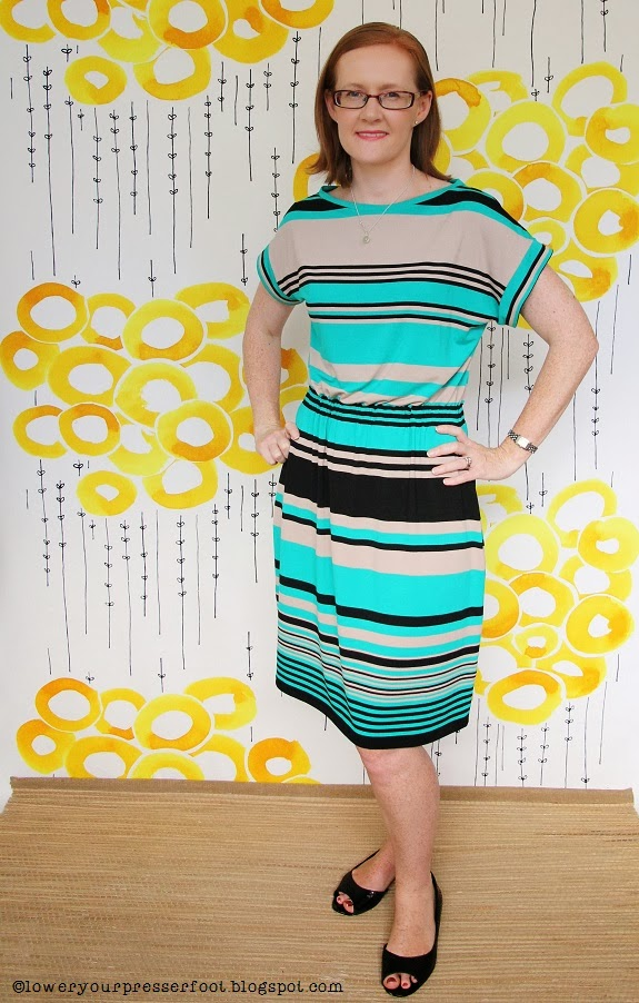 Burda-3-2009-#113-stripe-dress