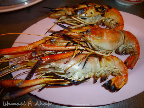 Delicious prawns at Bangkok Chinatown